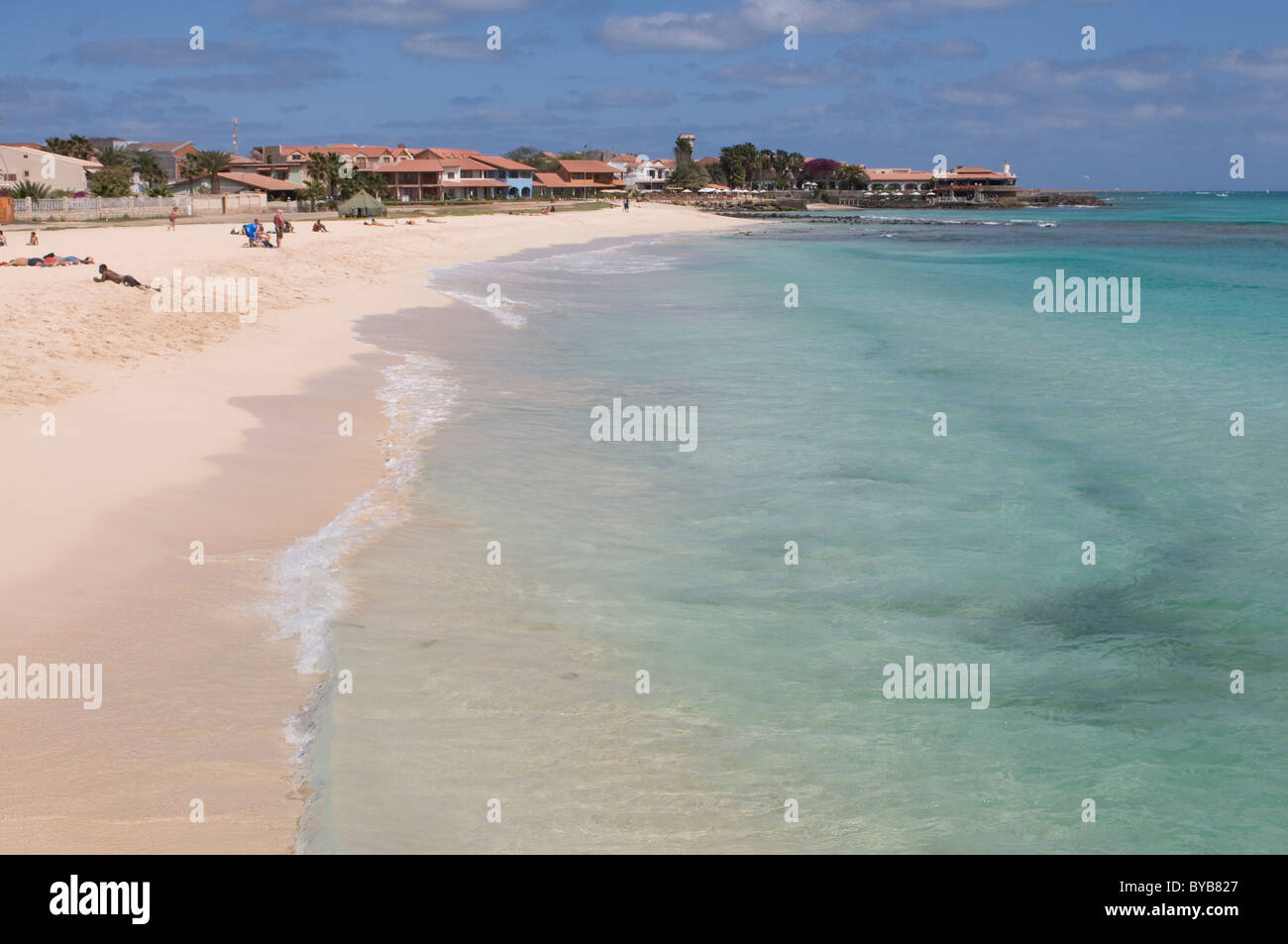 Beach, Santa Maria, Sal, Cabo Verde, Cape Verde, Africa Stock Photo
