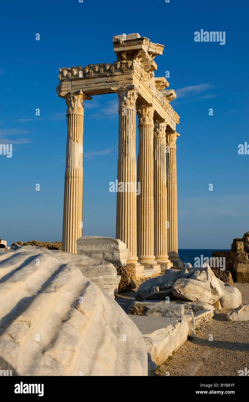 Apollo Temple in Side, Turkish Riviera, Turkey Stock Photo