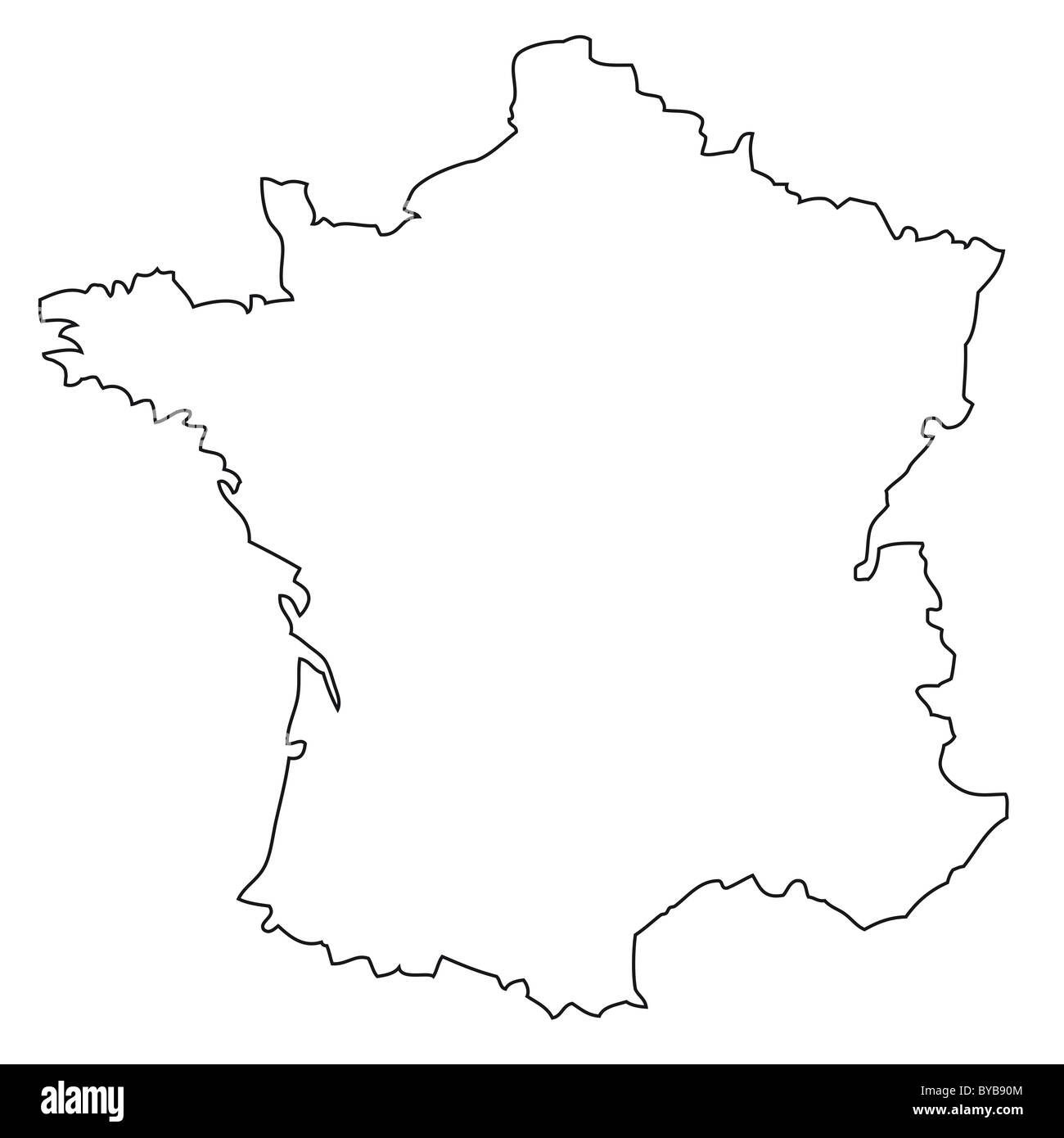 Outline Of Map Of France.Outline Map Of France Stock Photo 34054628 Alamy