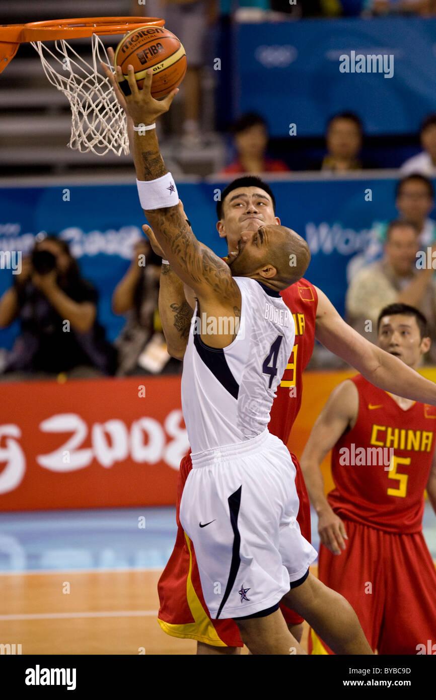 Carlos Boozer (USA) USA-China men's basketball action at the 2008 Olympic Summer Games, Beijing, China - Stock Image