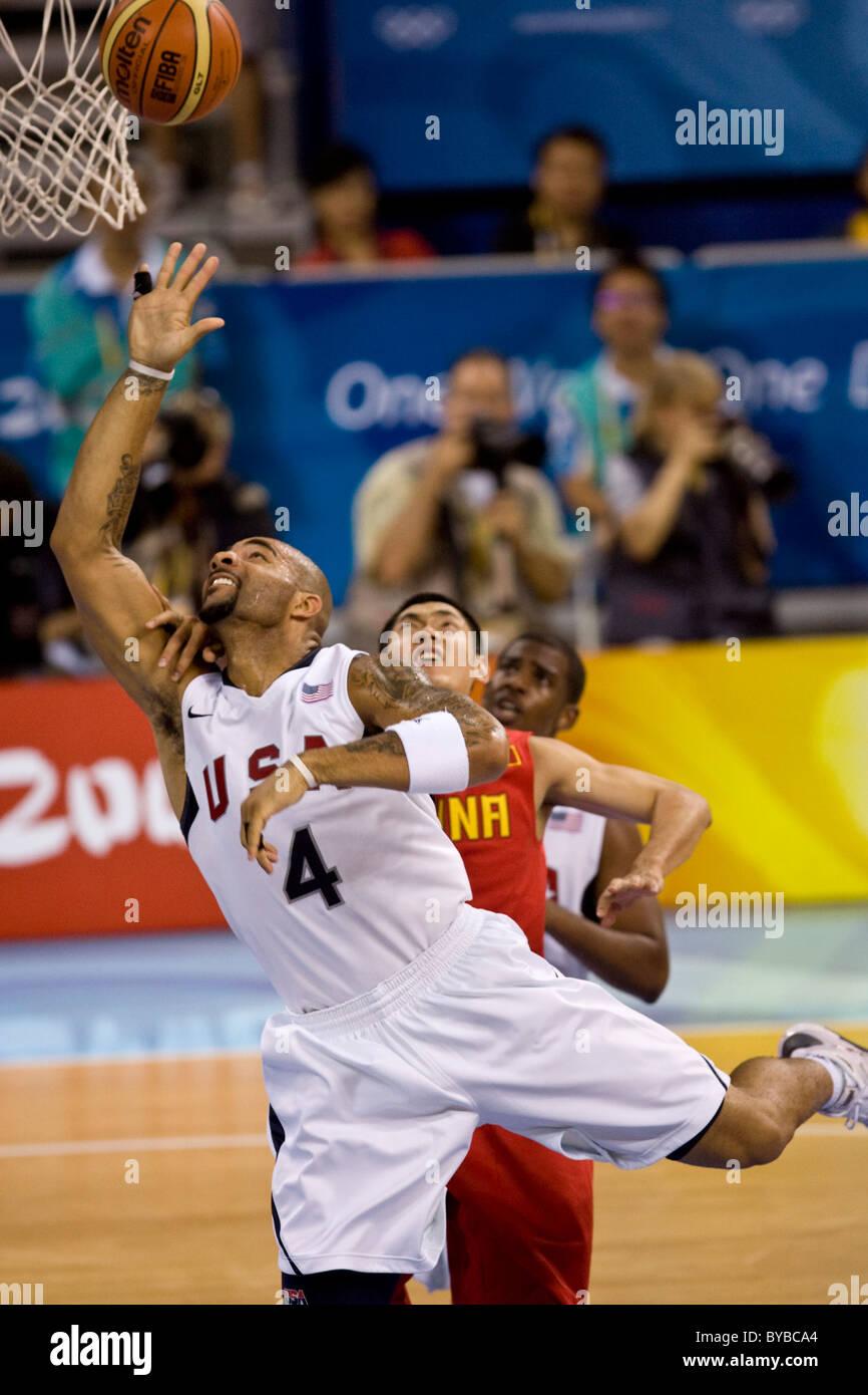 Carlos BOOZER USA-China men's basketball action at the 2008 Olympic Summer Games, Beijing, China - Stock Image