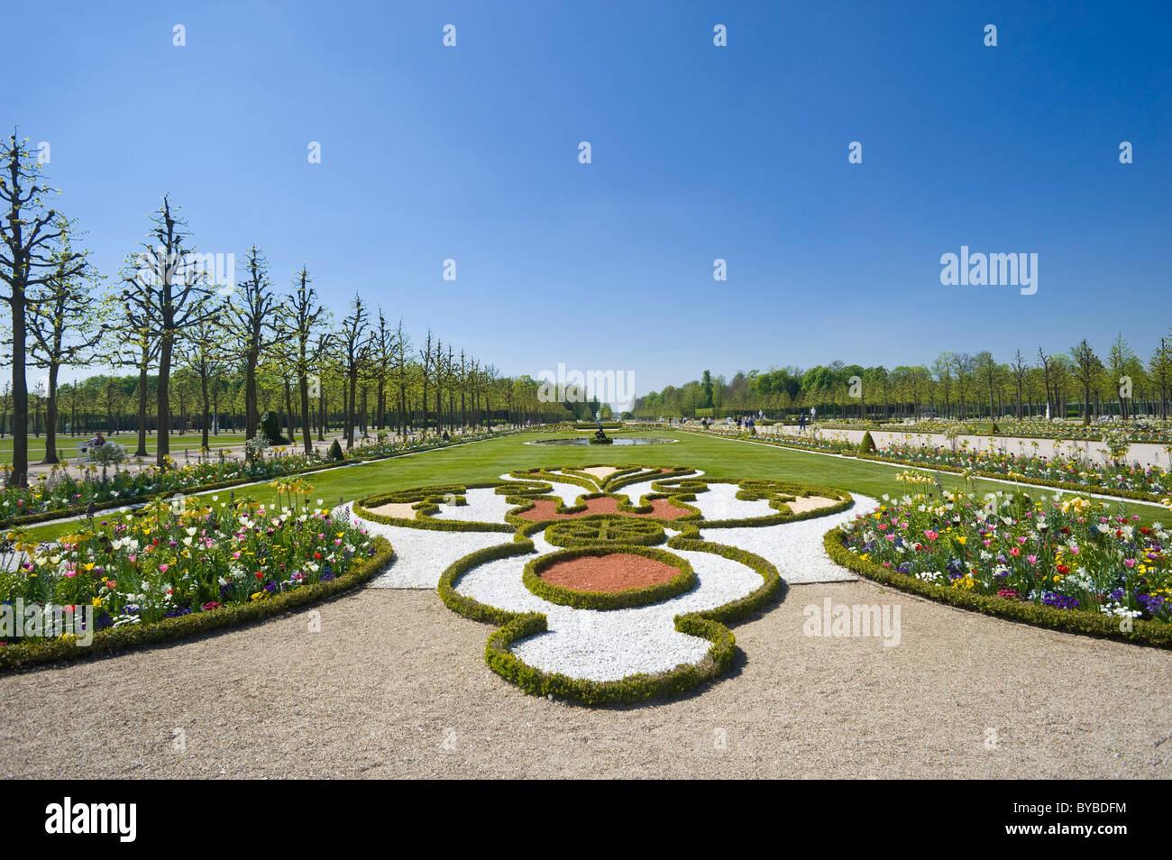 Schloss Schwetzingen Palace, Palace Gardens, Schwetzingen, Electoral Palatinate, Baden-Wuerttemberg, Germany, Europe - Stock Image