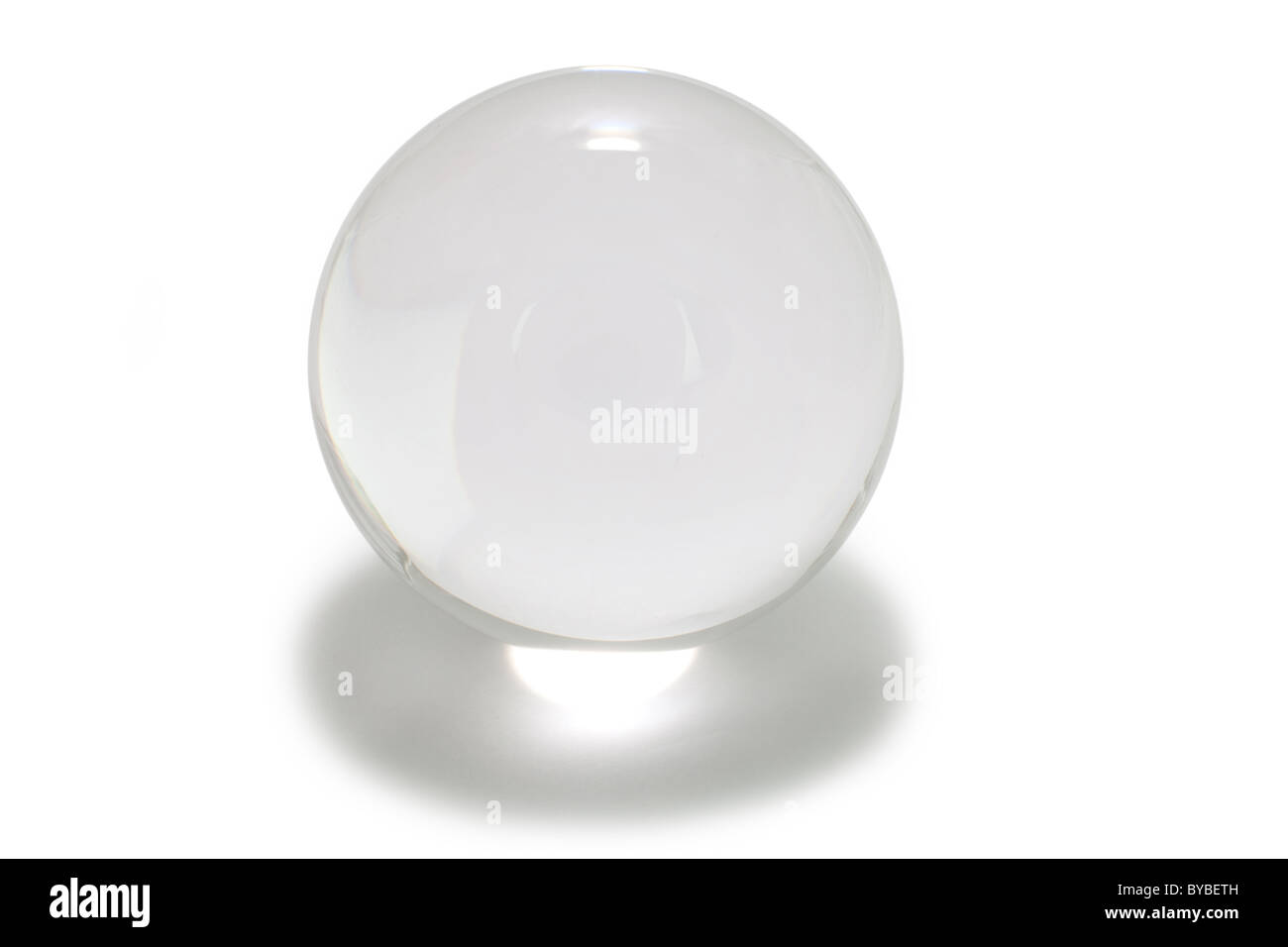 Crystal Ball with white background - Stock Image