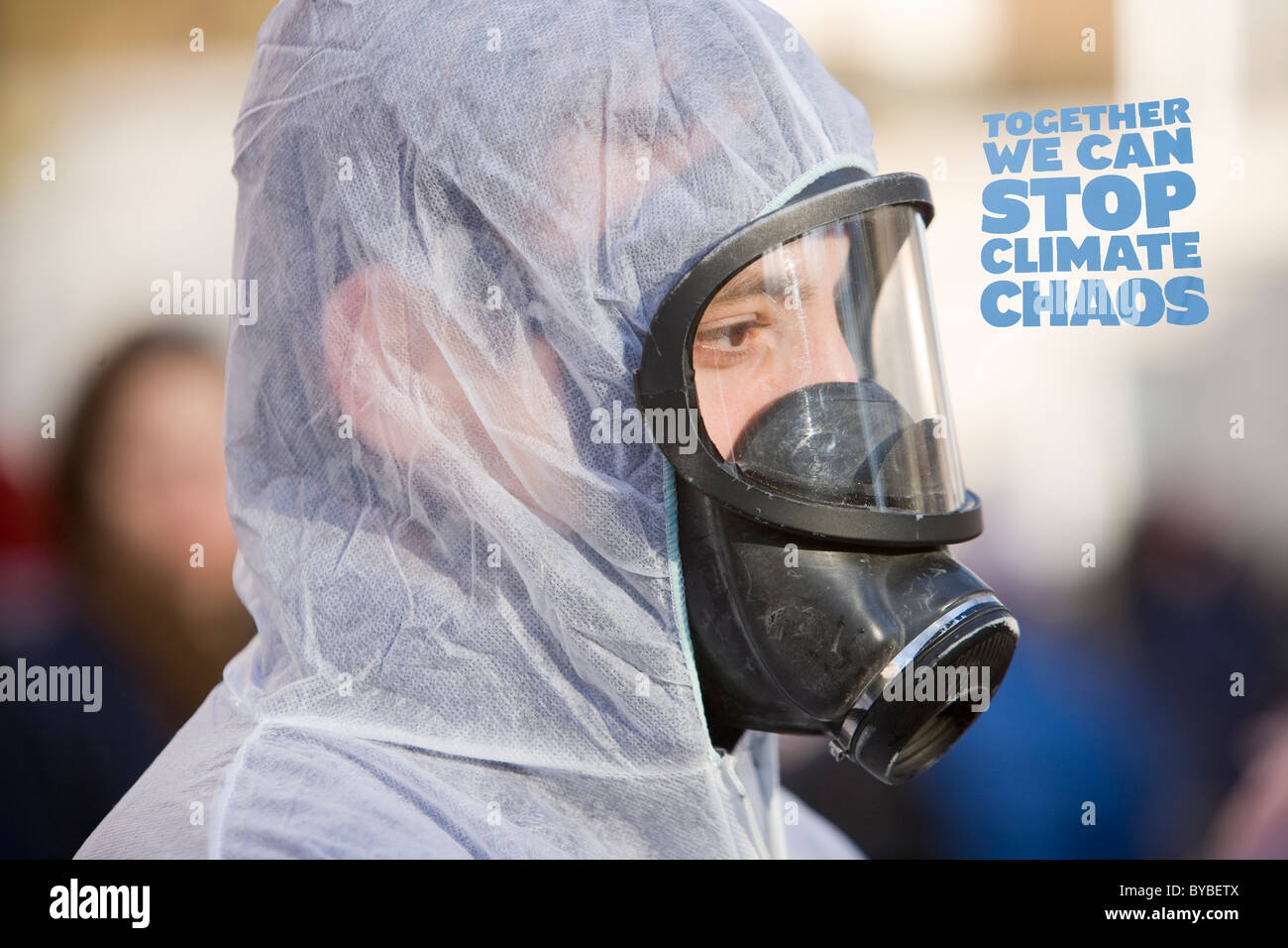 Protestors at a climate change rally in London December 2008 - Stock Image