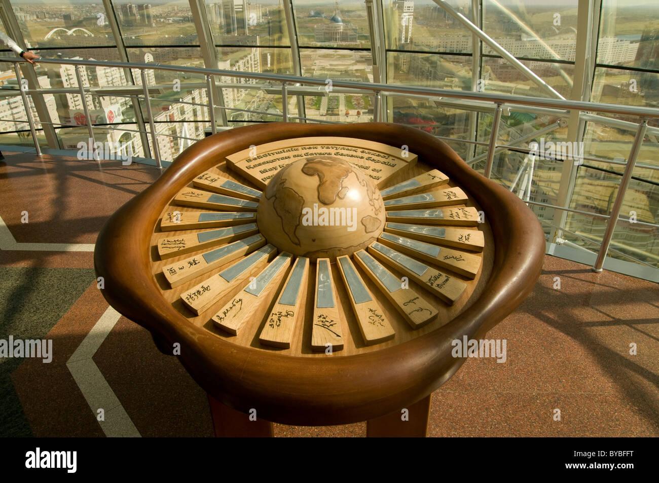 Inside Of The Bayterek Tower Landmark Astana Kazakhstan Central Asia