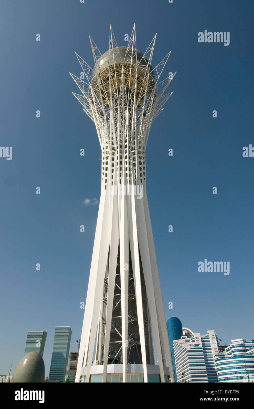Bayterek Tower, landmark of Astana, Kazakhstan, Central Asia Stock Photo