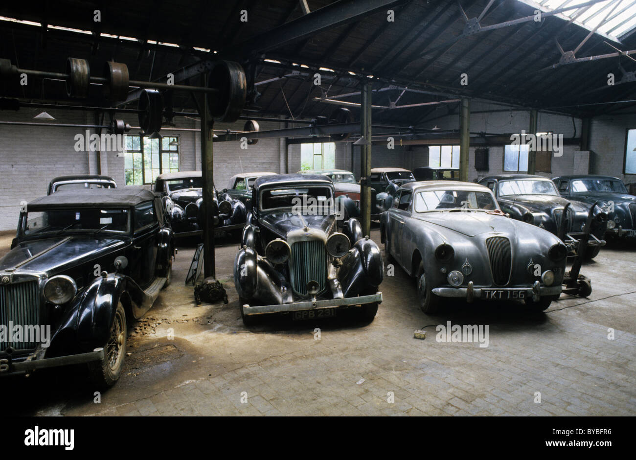 Old cars from Henry Ellard car collection auction willenhall Stock ...