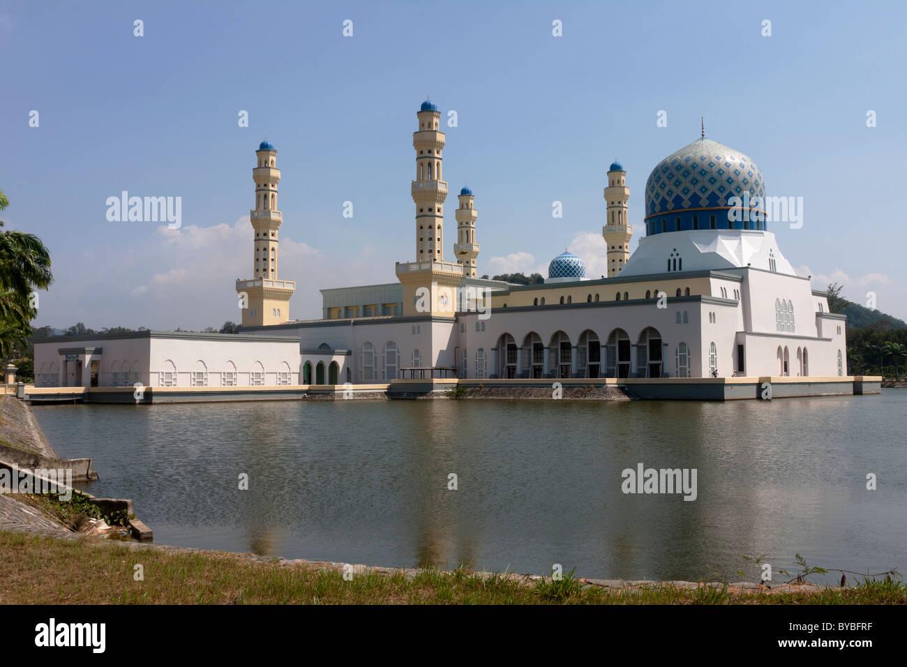 The Mosque at Kota Kinabalu, Sabah, Malaysian Borneo - Stock Image