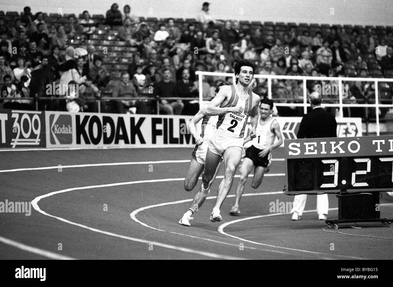 Sebastian Coe at Cosford Athletics Kodak Games meeting 1981 - Stock Image