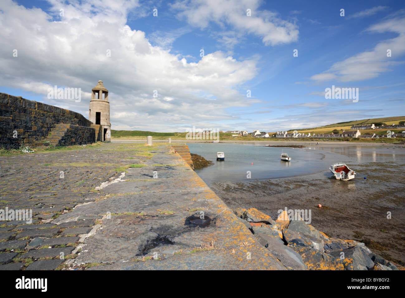 Port Logan on the Rhins Peninsular in south west Scotland - Stock Image