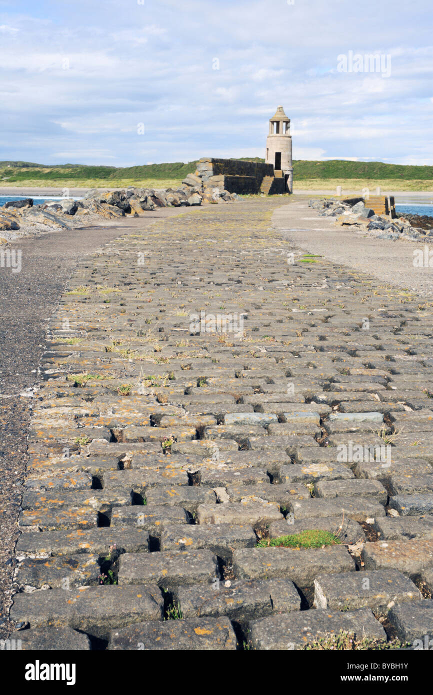 Port Logan Pier on Scotlands Rhind peninsular - Stock Image