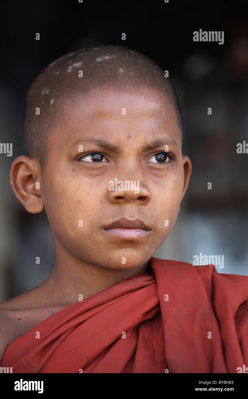 Burma,Birma,Myanmar, 20110123, novice in myanmar - Stock Image