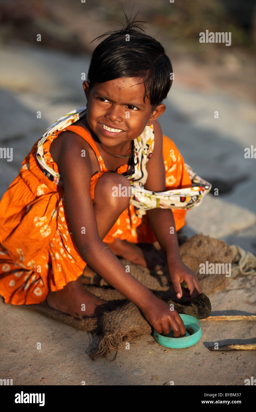 little girl in South Bangladesh - Stock Image