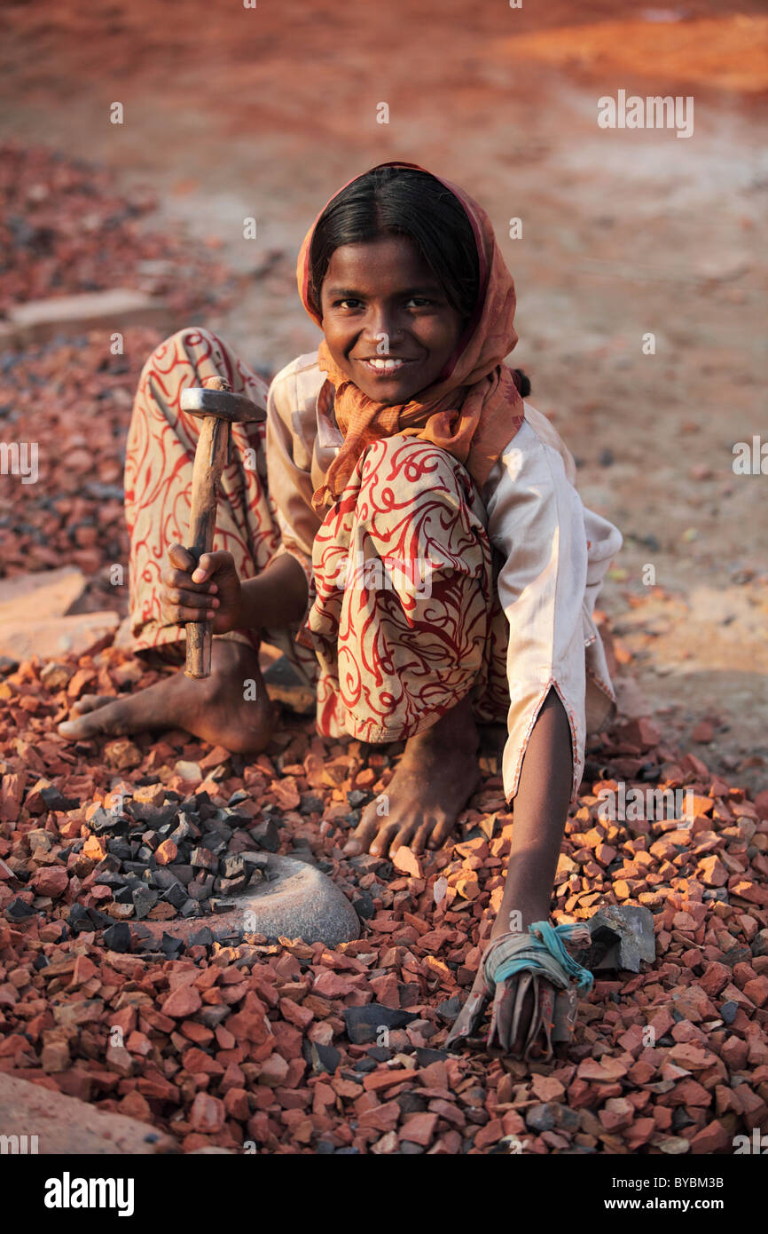 child labor in South Bangladesh - Stock Image