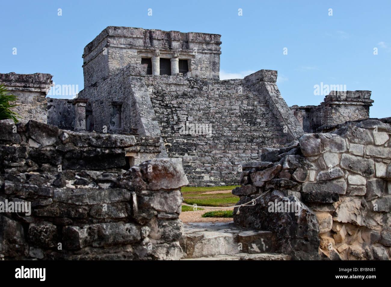 Tulum, Mayan ruins on the Yucatan Peninsula, Mexico - Stock Image