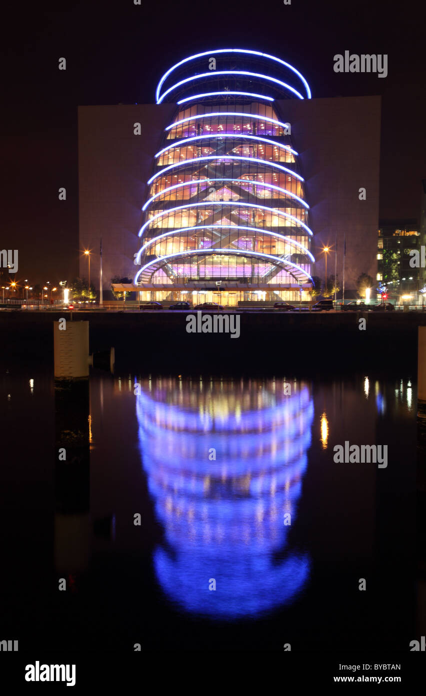Convention Centre by night, Dublin Docklands, Ireland - Stock Image