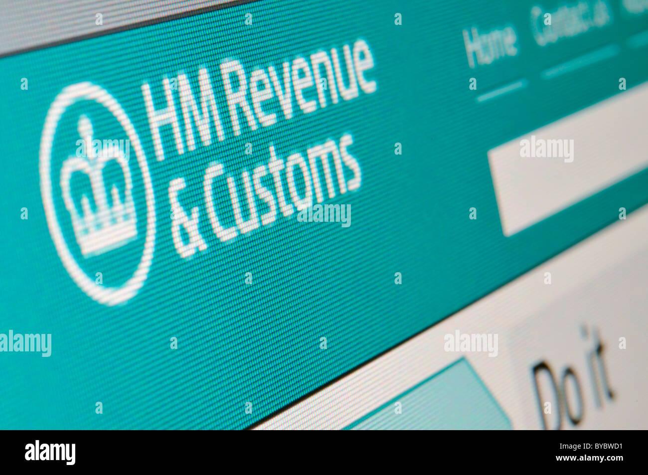 Website HM Revenue and Customs - Stock Image