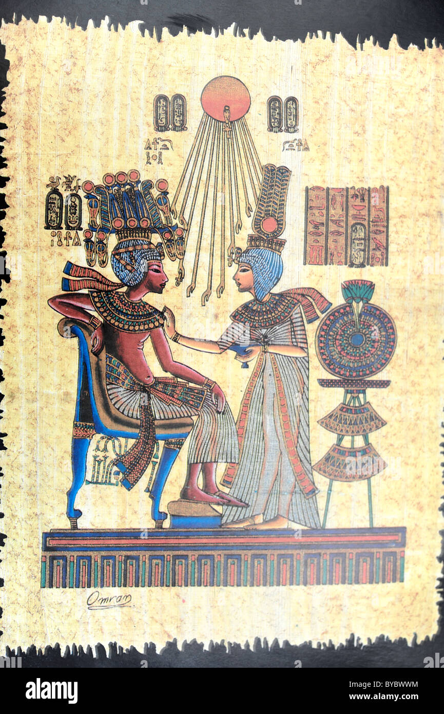 Papyrus showing scene from the Book of the Dead - Stock Image