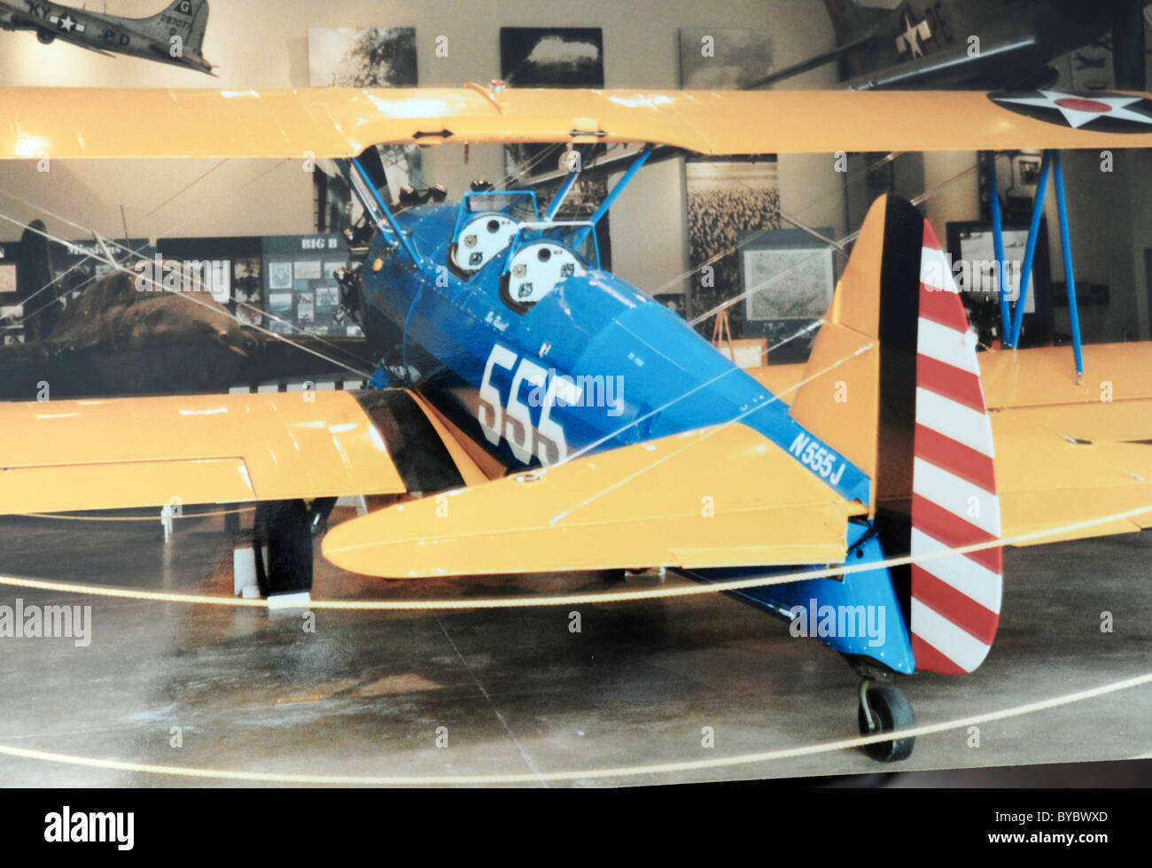 Biplane used by US Air Force in WW II - Stock Image