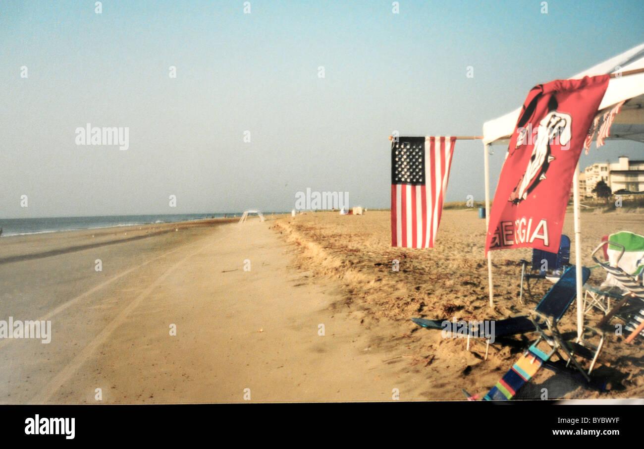 Tybee Beach, GA - Stock Image