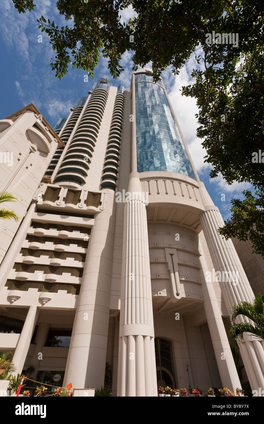 The Harbor Court Building. Built in 1994 this office condo high rise was designed by architect Norman Lacayo. - Stock Image