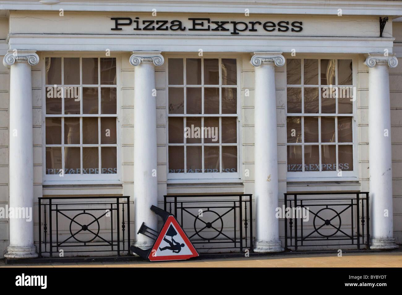Pizza Express Royal Leamington Spa England Stock Photo