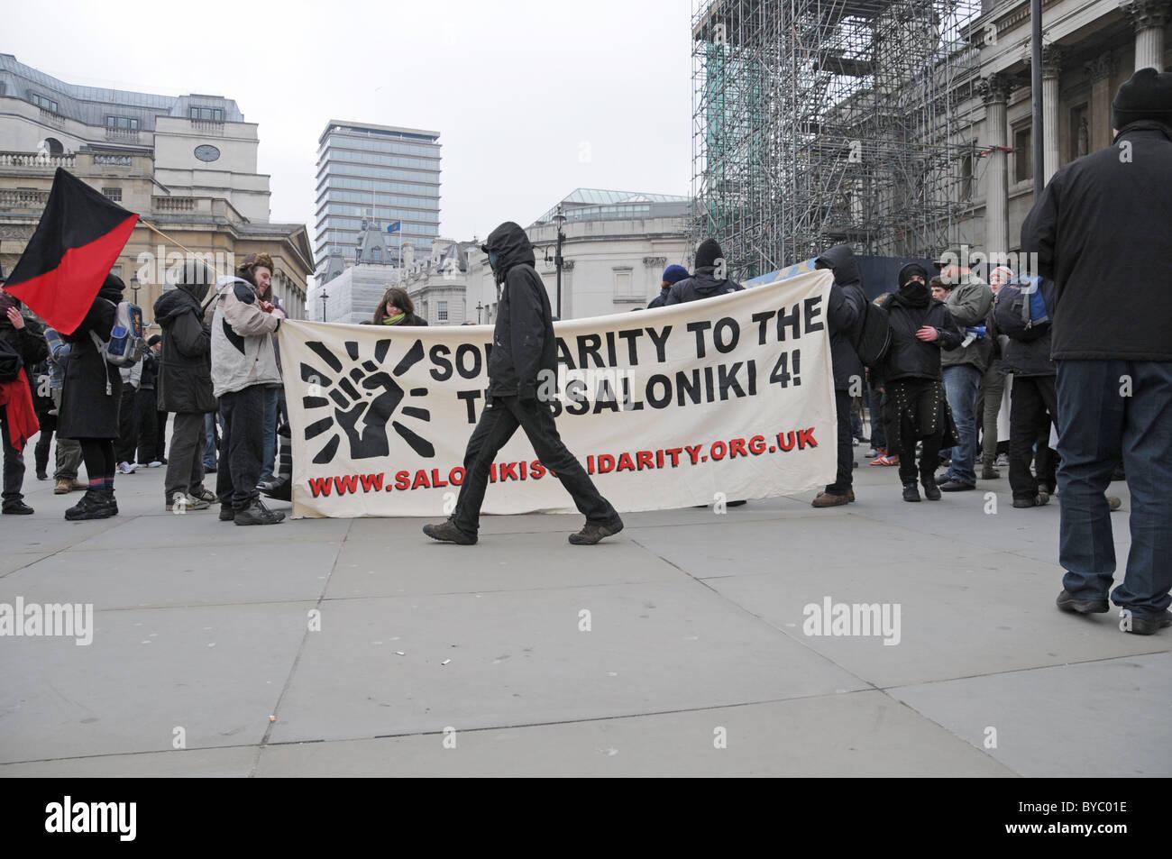 Anti Capitalist peace protesters London - Stock Image
