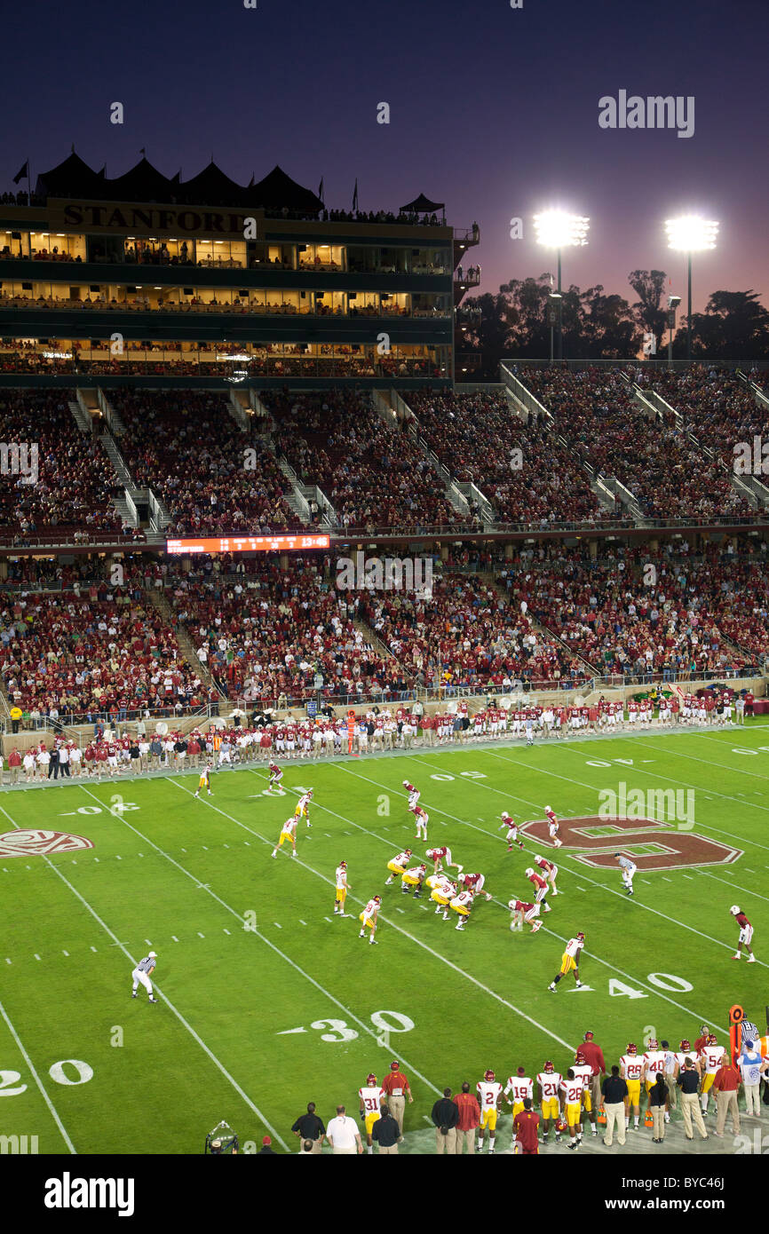 College football game at Stanford Stadium, Stanford, CA - Stock Image