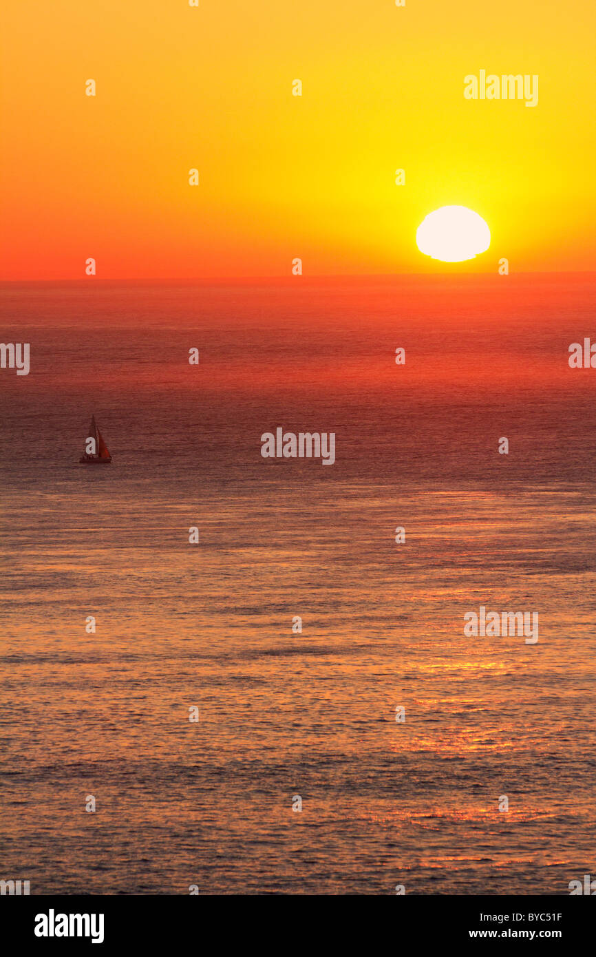 Sunset on San Francisco Bay, San Francisco, CA - Stock Image