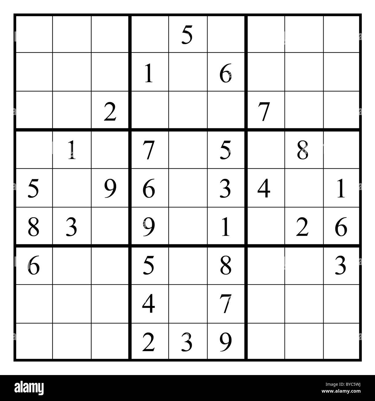 Sudoku Illustration Stock Photos & Sudoku Illustration Stock Images ...