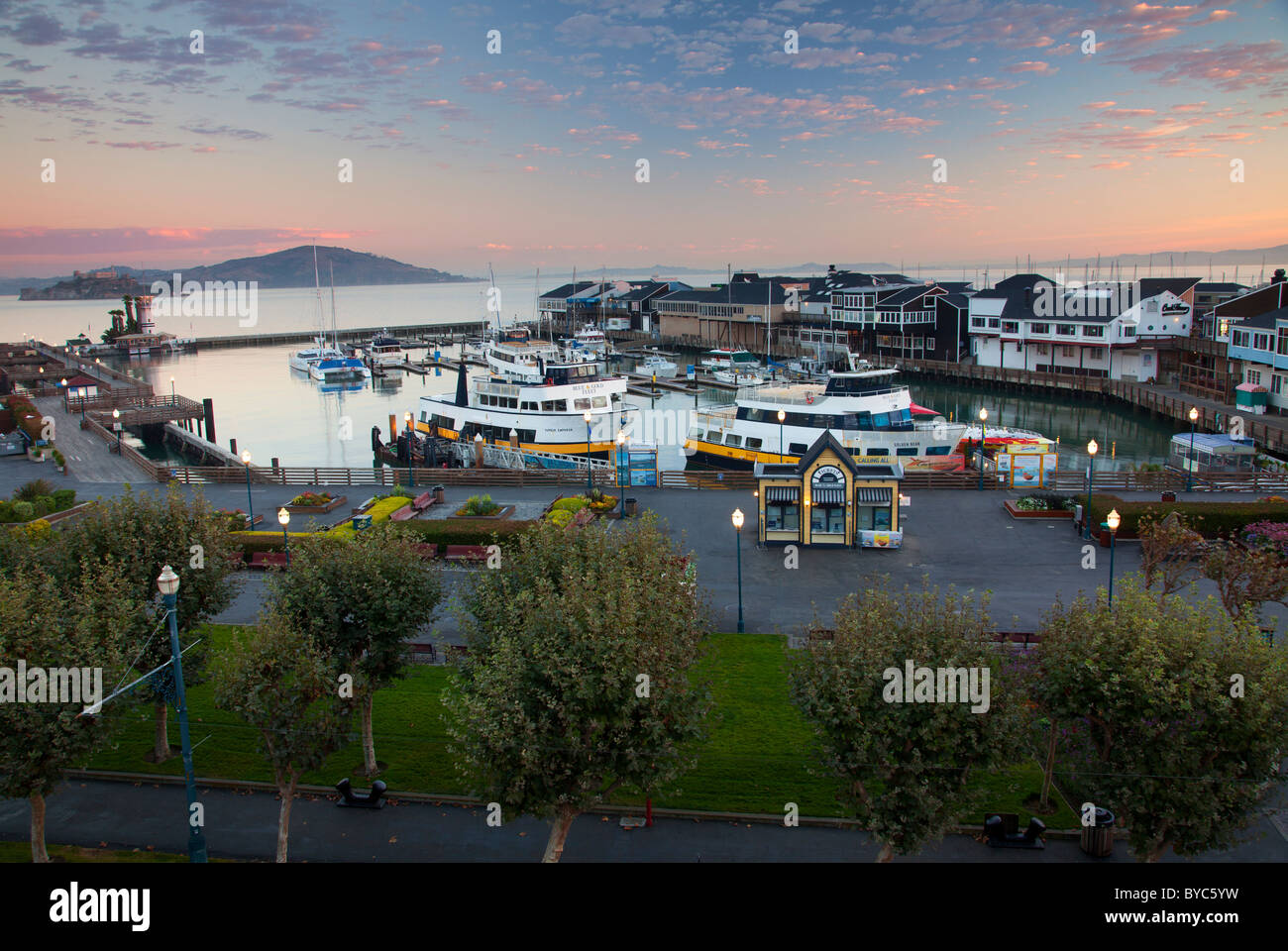 Fisherman's Wharf and Pier 39, San Francisco, CA - Stock Image