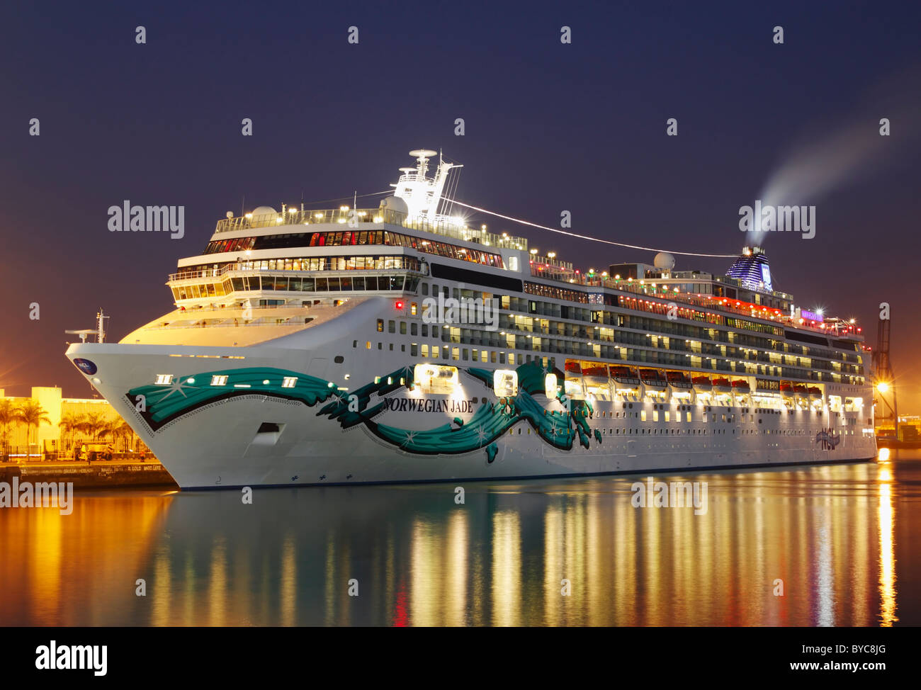 Cruise ship Norwegian Jade in Las Palmas on Gran Canaria, Canary Islands, Spain - Stock Image