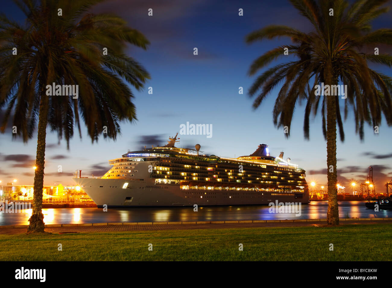Independence of the Seas cruise ship visiting Las Palmas, Gran Canaria, Canary Islands, Spain - Stock Image