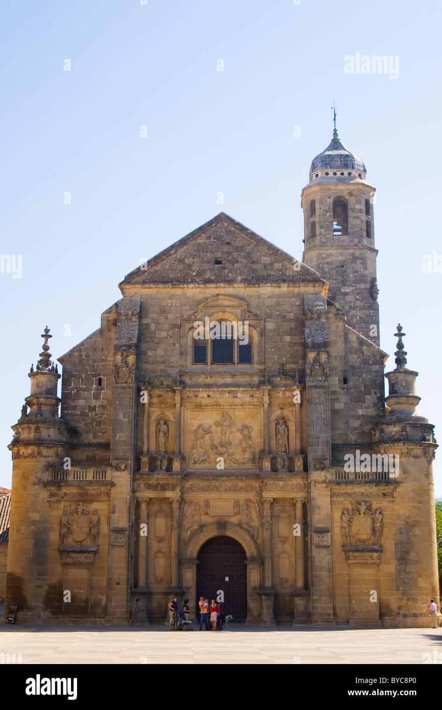 Ubeda, Jaen Province, Spain. Sacra Capilla de El Salvador del Mundo, Plaza Vázquez de Molina. - Stock Image