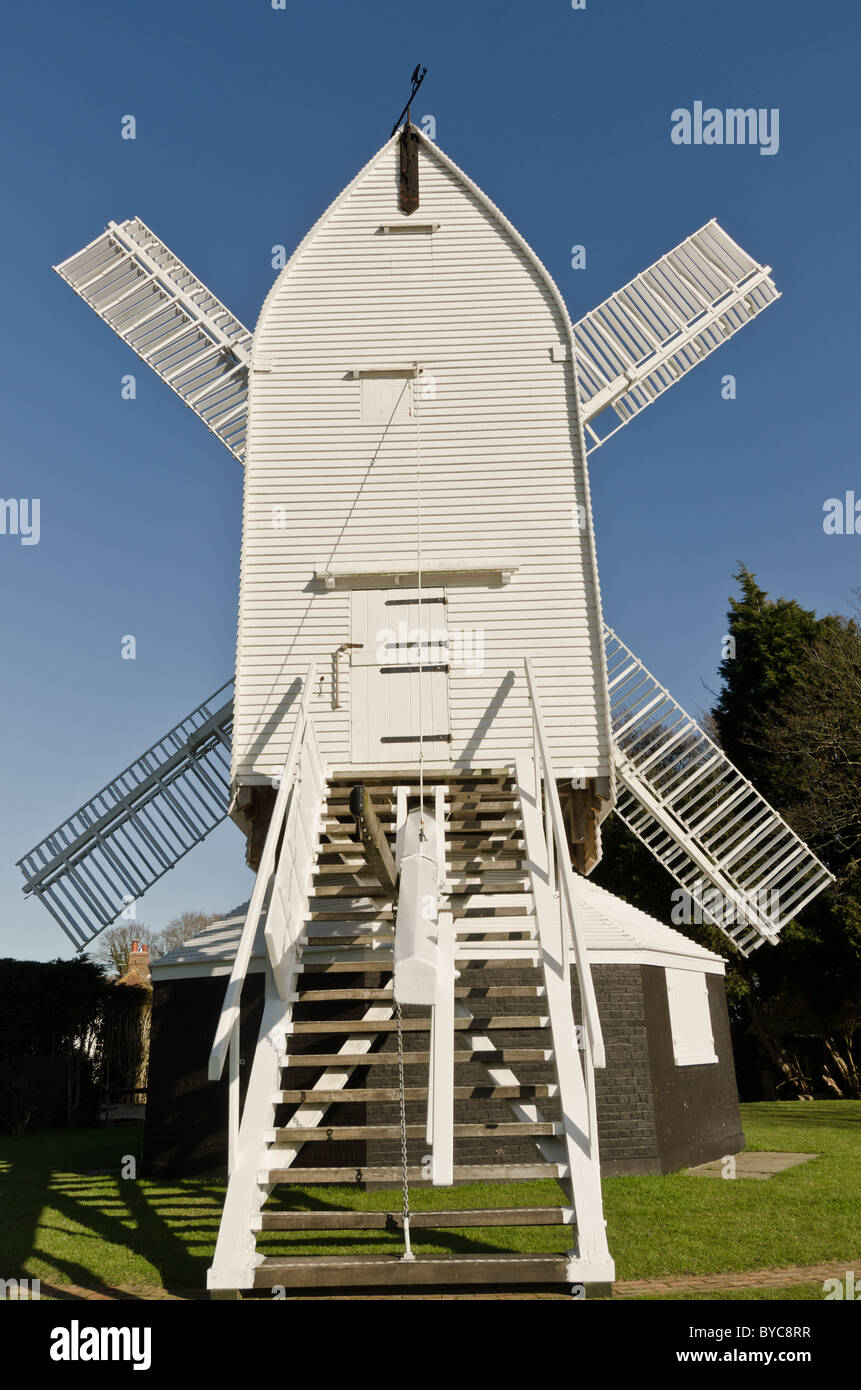 Wooden windmill - Stock Image