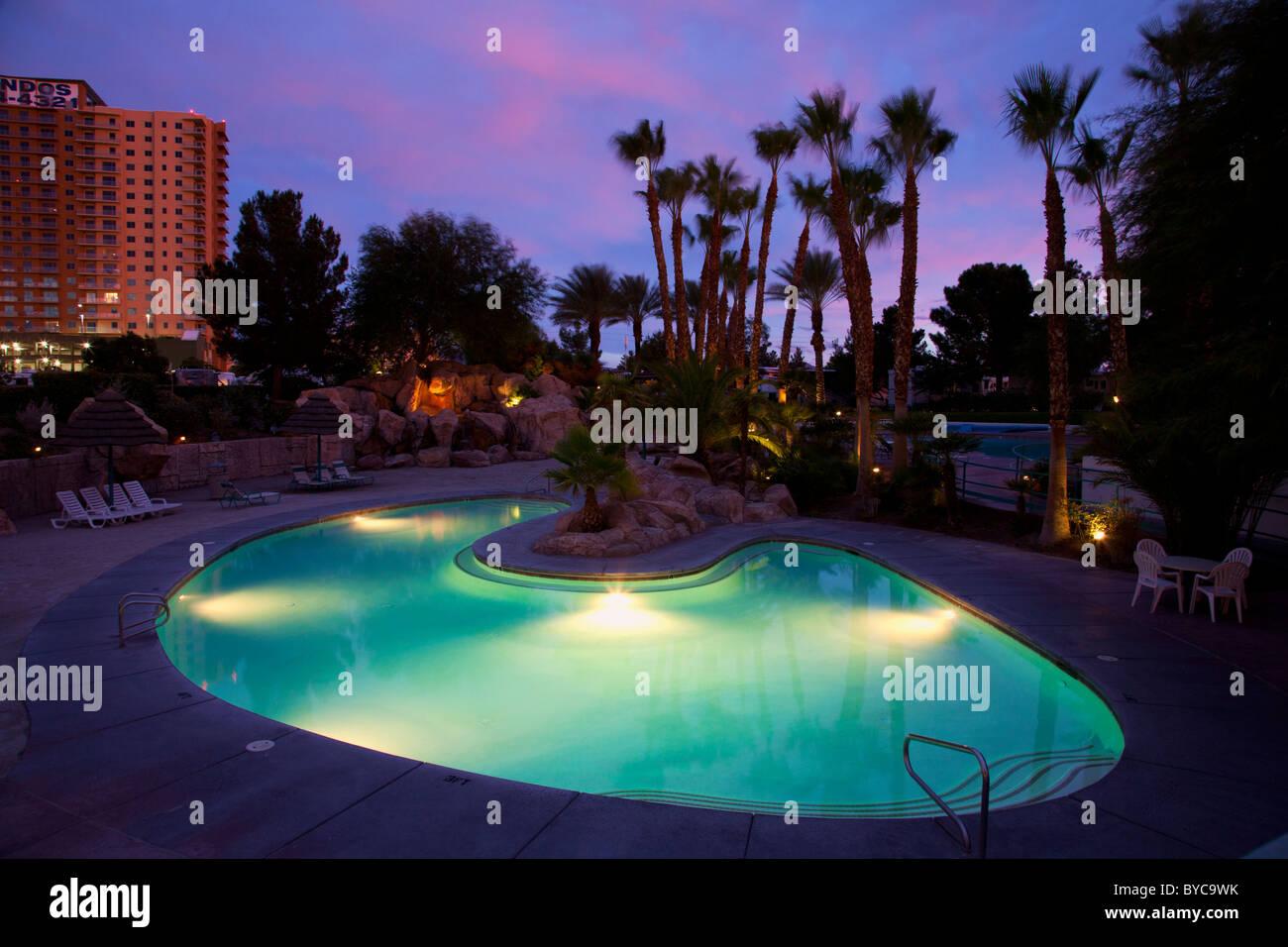 Sunset at Oasis Las Vegas RV Resort, Las Vegas, Nevada - Stock Image