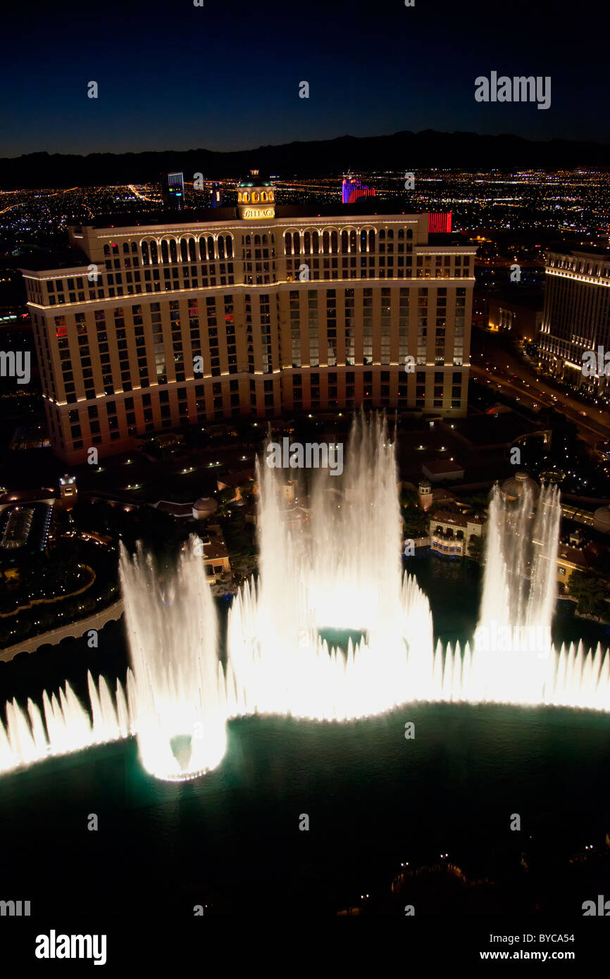 Fountains of Bellagio, Bellagio Resort and Casino, Las Vegas, NV - Stock Image