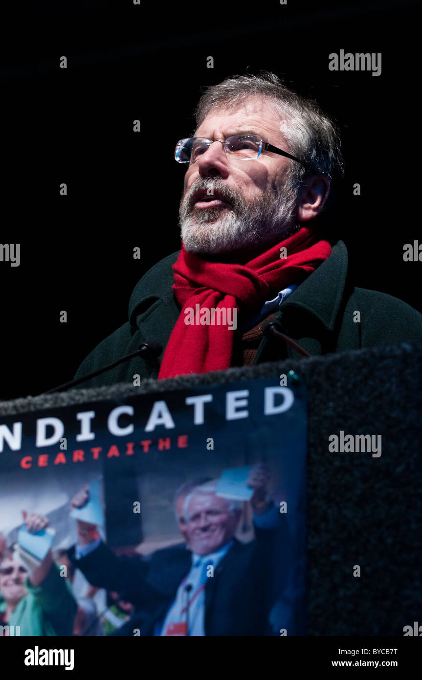 Gerry Adams at the last official Bloody Sunday commemorative march. Derry, 30/01/2011 - Stock Image