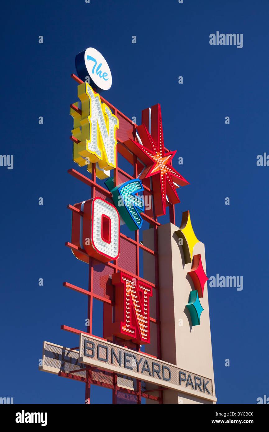 The Neon Museum, Las Vegas, NV - Stock Image