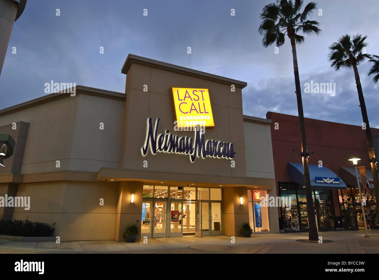 19529e240f42 Neiman Marcus Last Call Outlet Store at the Block in Orange California. -  Stock Image