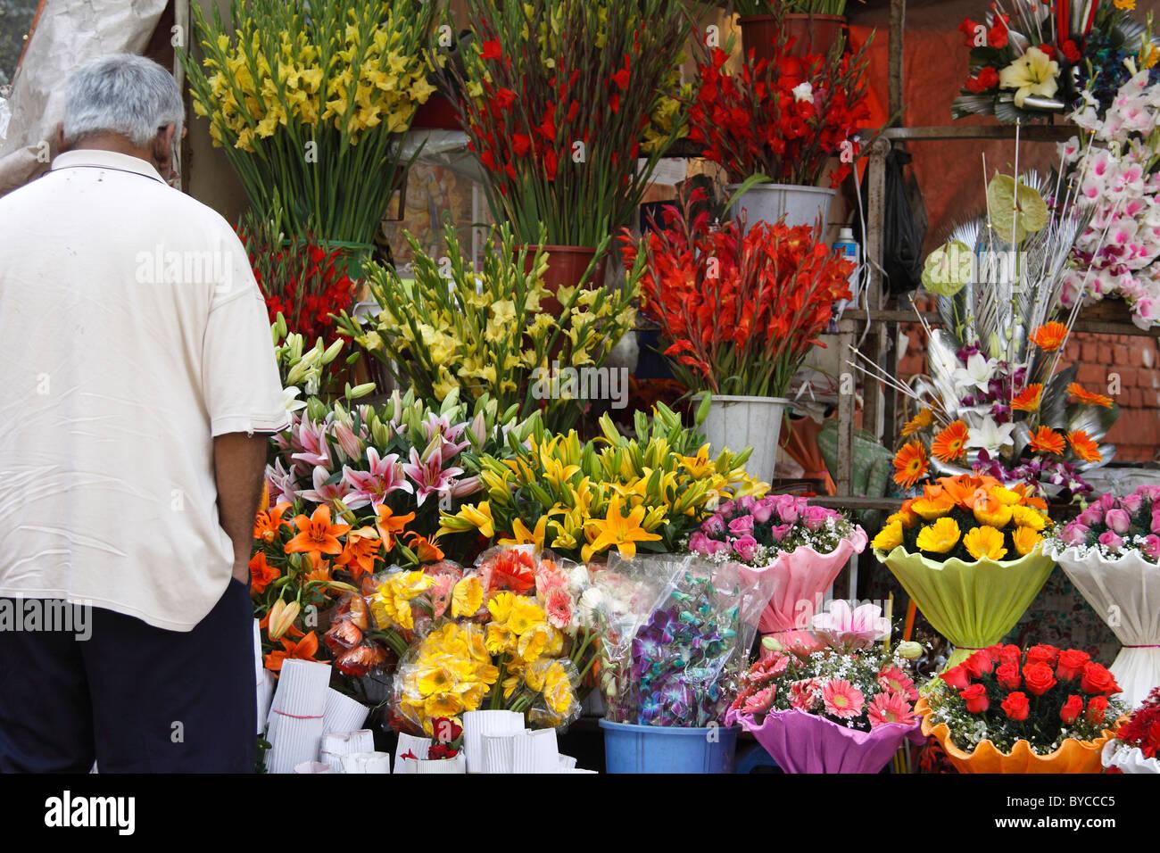 Indian Flower Shop Stock Photos Indian Flower Shop Stock