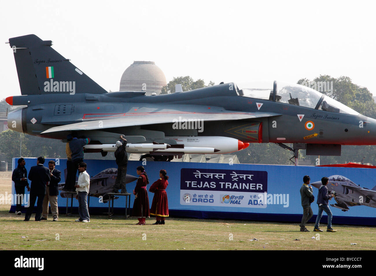 Tejas Trainer War Plane Armored Indian Air Force Display People Republic Day 26th January India Gate New Delhi Aeroplane
