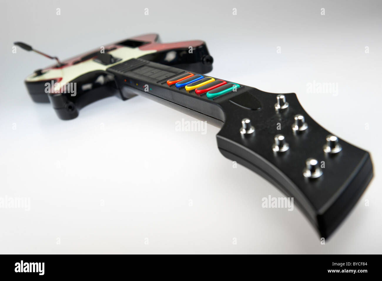 Band Hero guitar controller from the video game franchise Guitar Hero - Stock Image