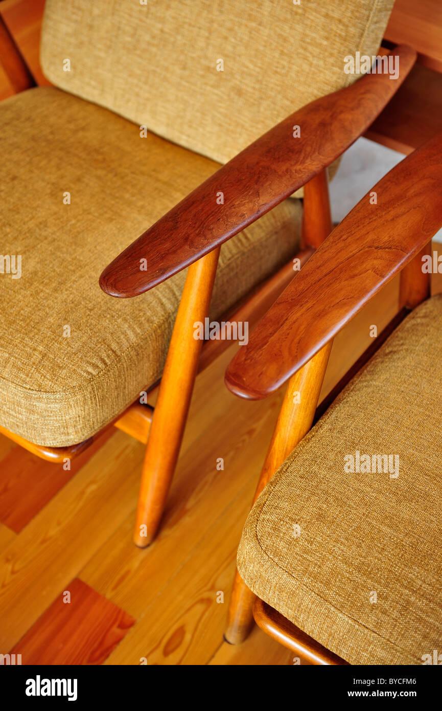 Detail Of Scandinavian Style Armchairs By Danish Furniture Designer Stock Photo Alamy