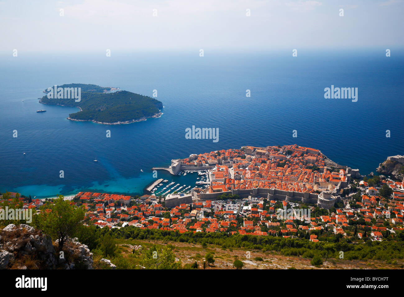 Panorama Of Dubrovnik From Srd Mountain Historic Center