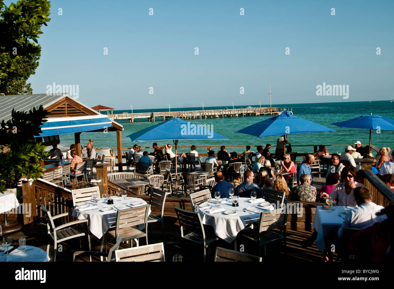 Outdoor Photo Of Louieu0027s Backyard Restaurant In Key West Florida At Dusk