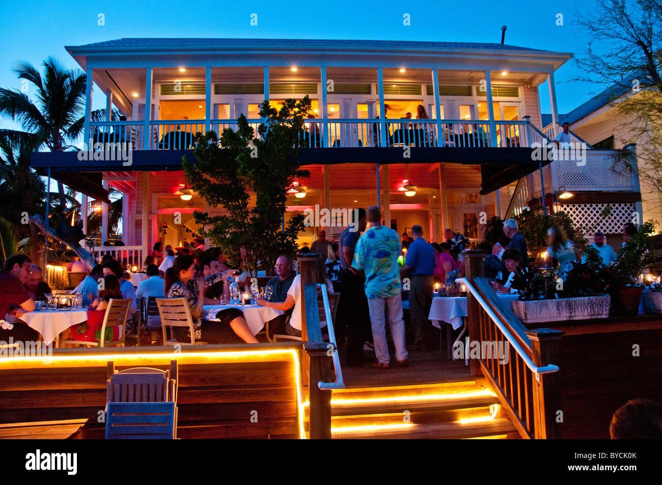 Outdoor photo of Louie's Backyard restaurant in Key West Florida at dusk - Outdoor Photo Of Louie's Backyard Restaurant In Key West Florida At