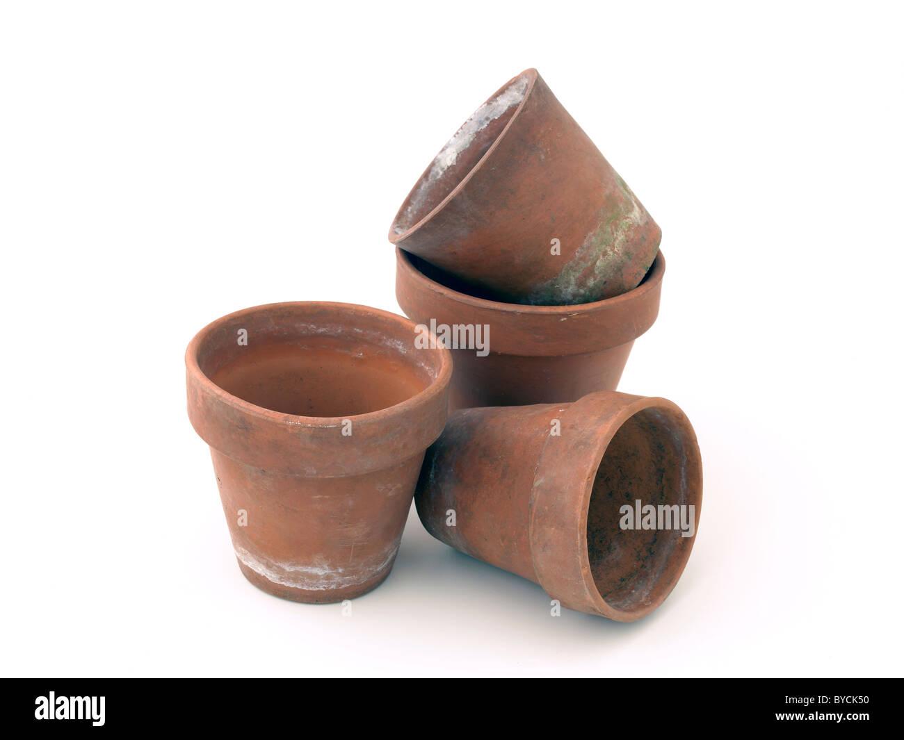 flower pots - Stock Image