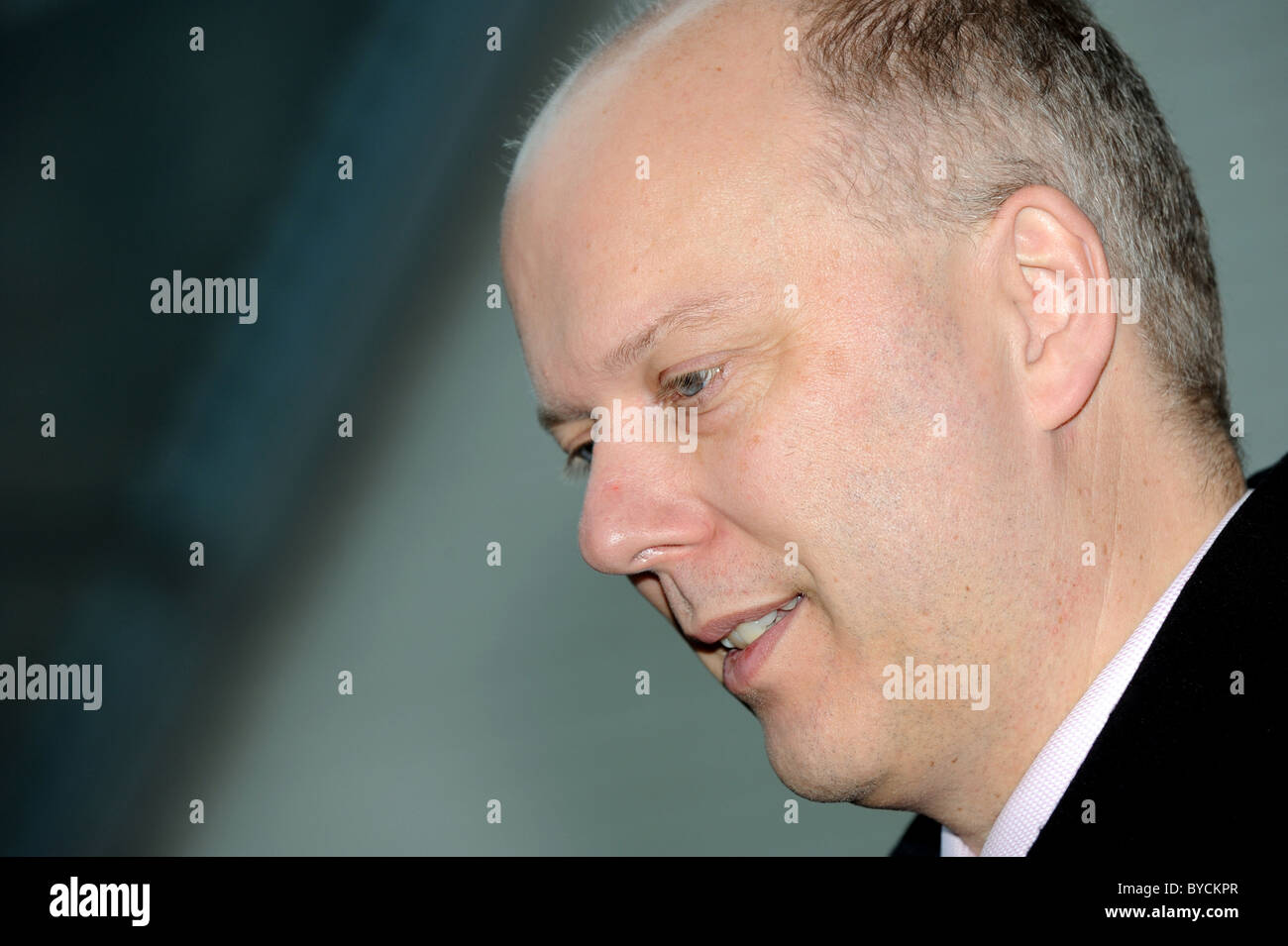 Employment Minister Chris Grayling during a visit to Brighton's City College - Stock Image