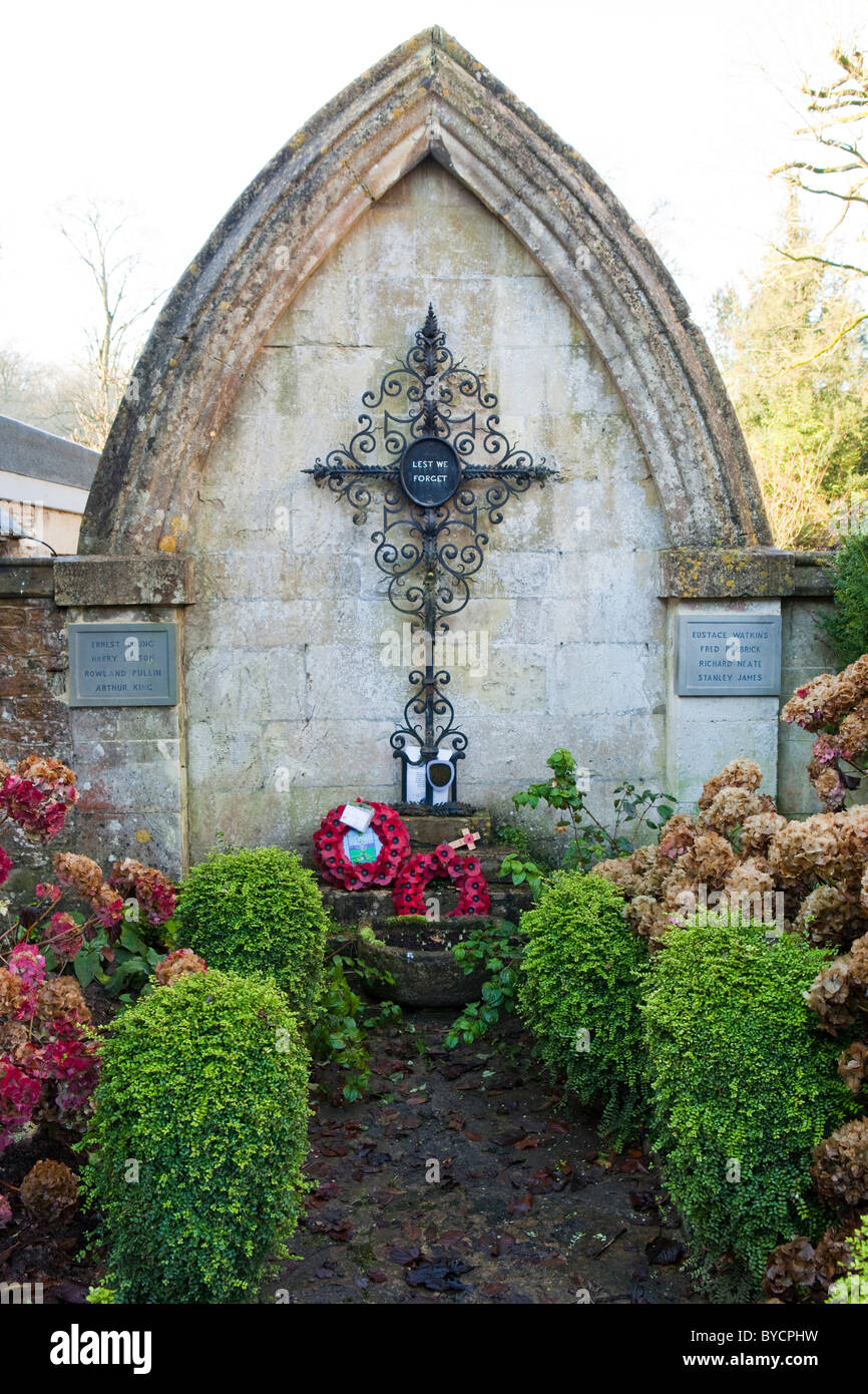 War memorial in Castle Combe, Wiltshire, UK Stock Photo